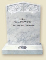 LM709 - Collingwood Carrara White Marble